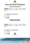 Cartell - Avanç del Pla de Participació (partides)